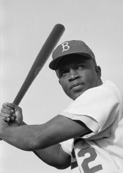 Jackie Robinson, Brooklyn Dodgers, 1954. Baseball Print/Poster. Sizes: A4/A3/A2/A1 (4813)